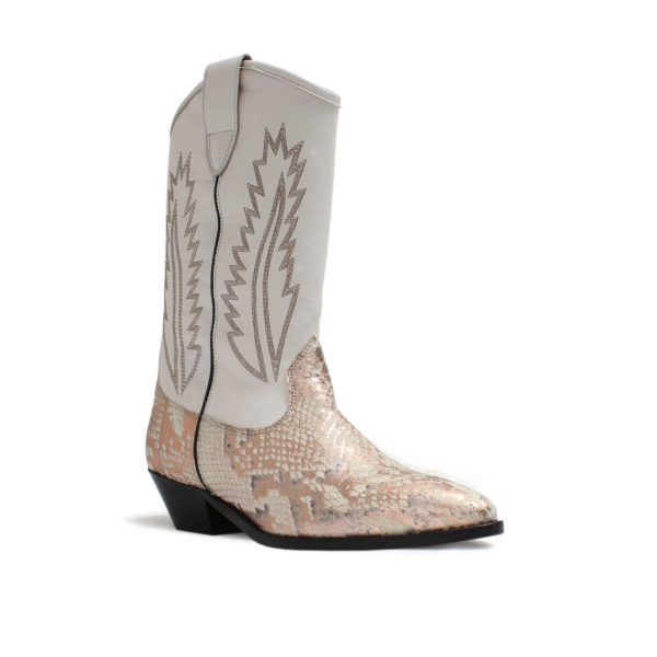 Catarina Martins botas aba softleather blanco cobre